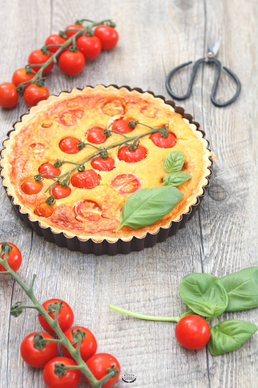 recette facile de tarte tomates cerises fromage frais