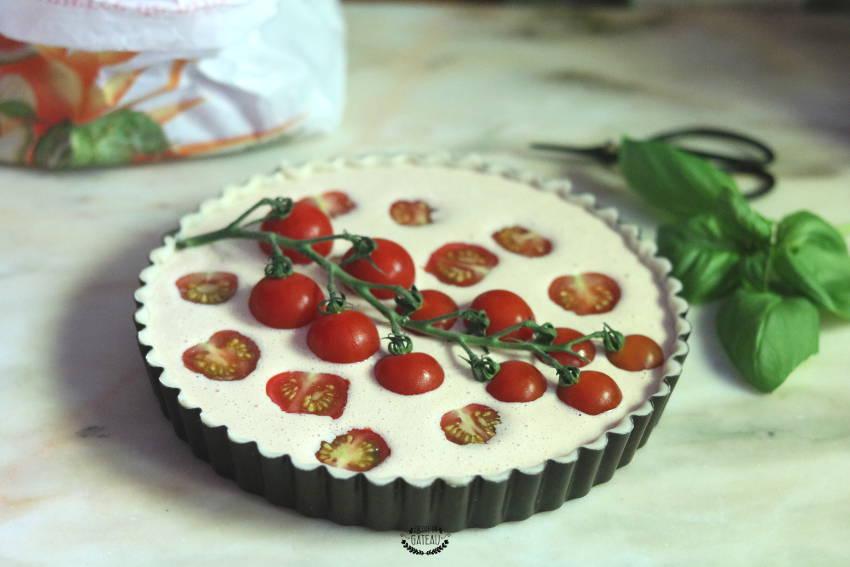 tarte tomates cerises avant cuisson