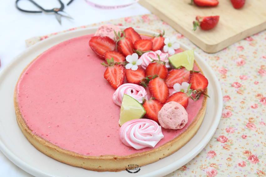 tarte mousse de fraises