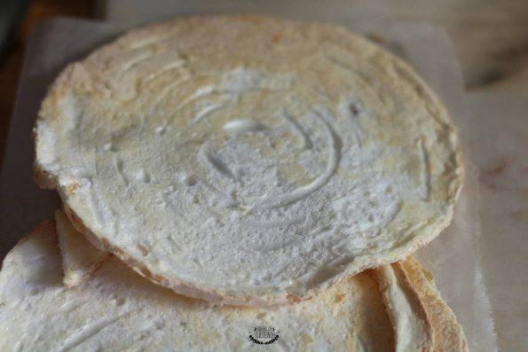 disques meringues gâteau meringué citron framboises