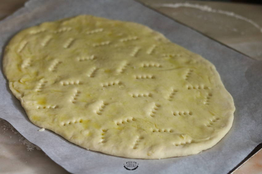 focaccia avant cuisson