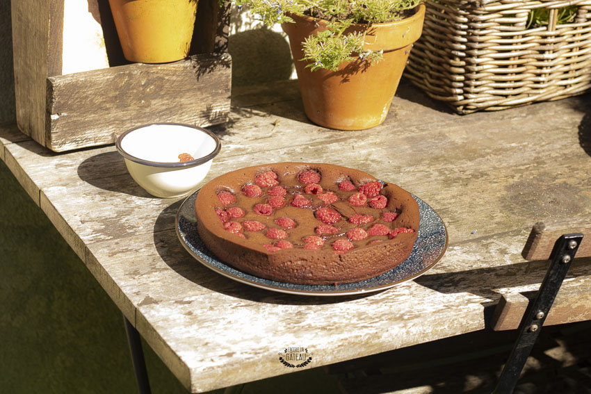 recette facile de fondant chocolat framboises
