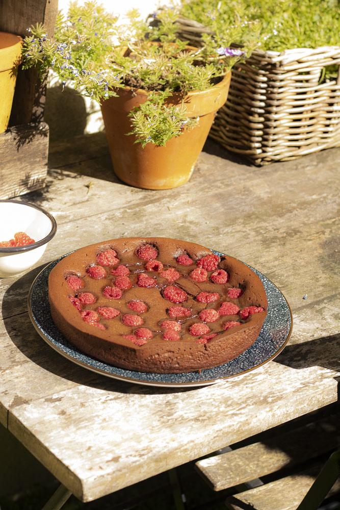 recette du fondant chocolat framboises