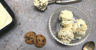 glace cookie dough sans oeufs sans sorbetière