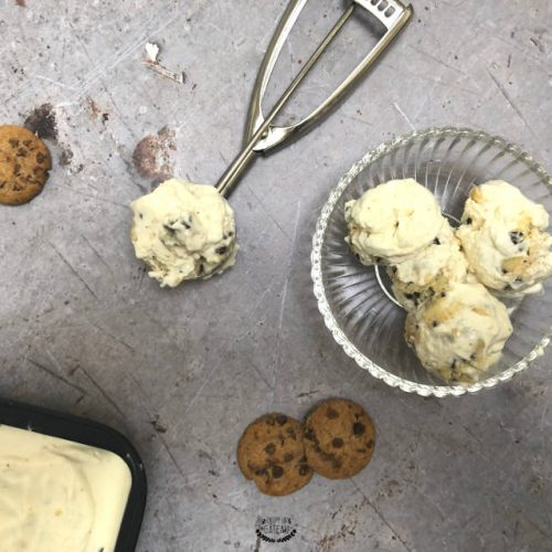recette facile de glace cookie dough
