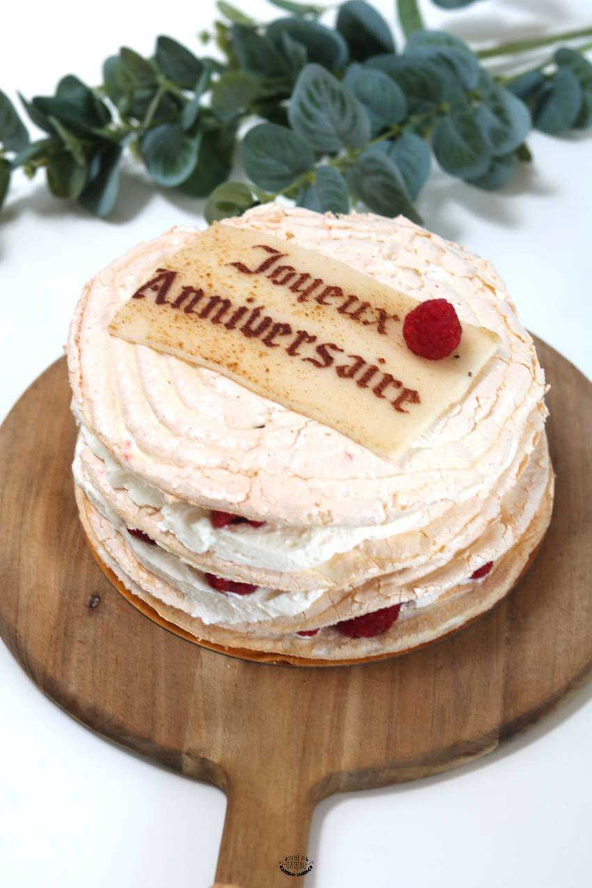 gâteau meringué sans gluten citron framboises
