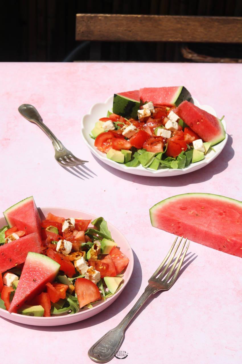 recette rapide et facile de salade pastèque crudités