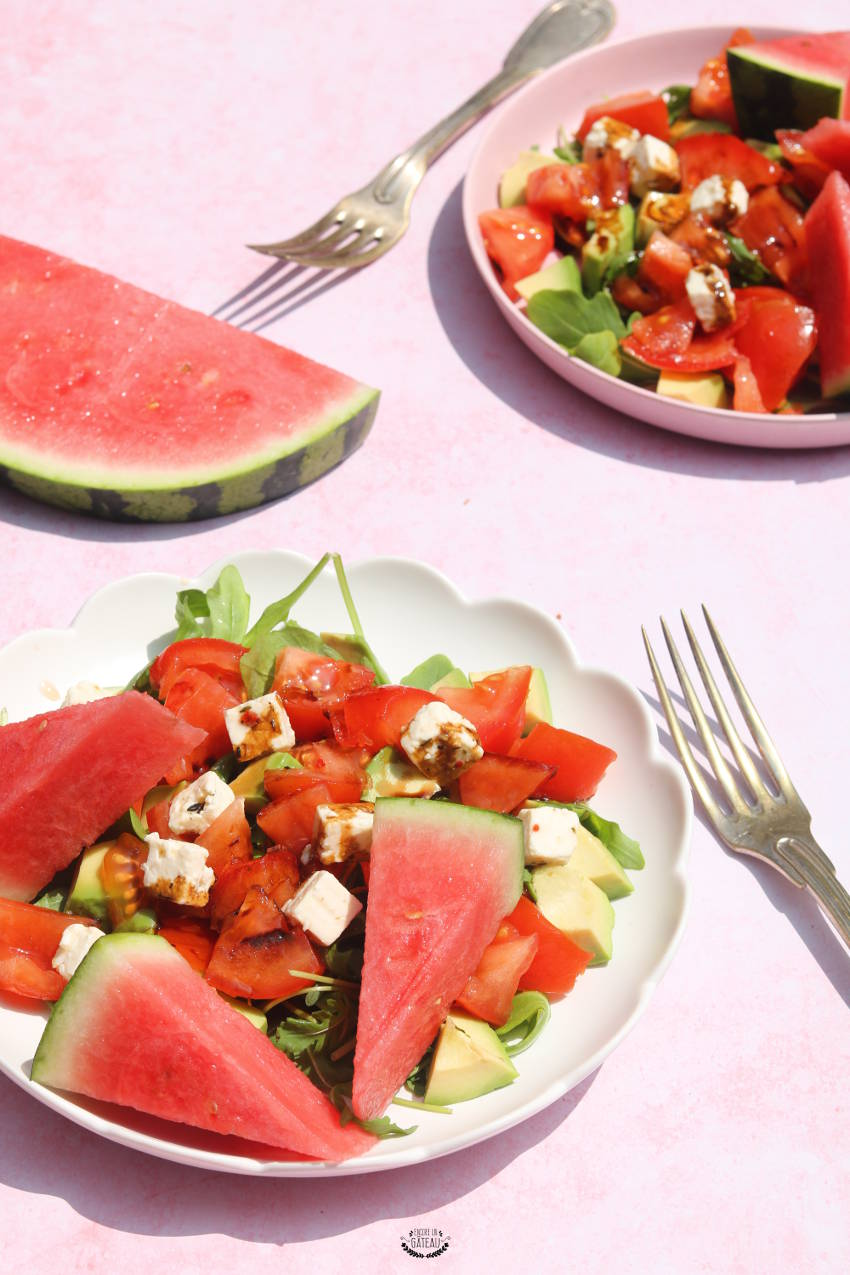 recette de salade pastèque crudités