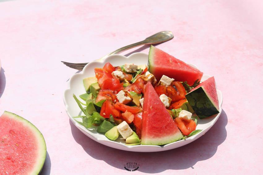faire une salade pastèque crudités
