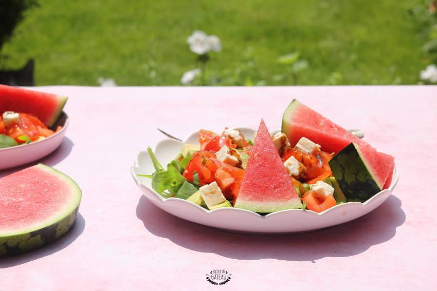 salade pastèque crudités facile