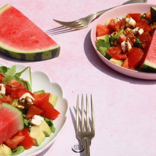 recette rapide de salade pastèque crudités
