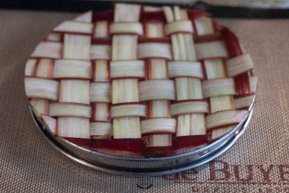 décor tarte amandine rhubarbe