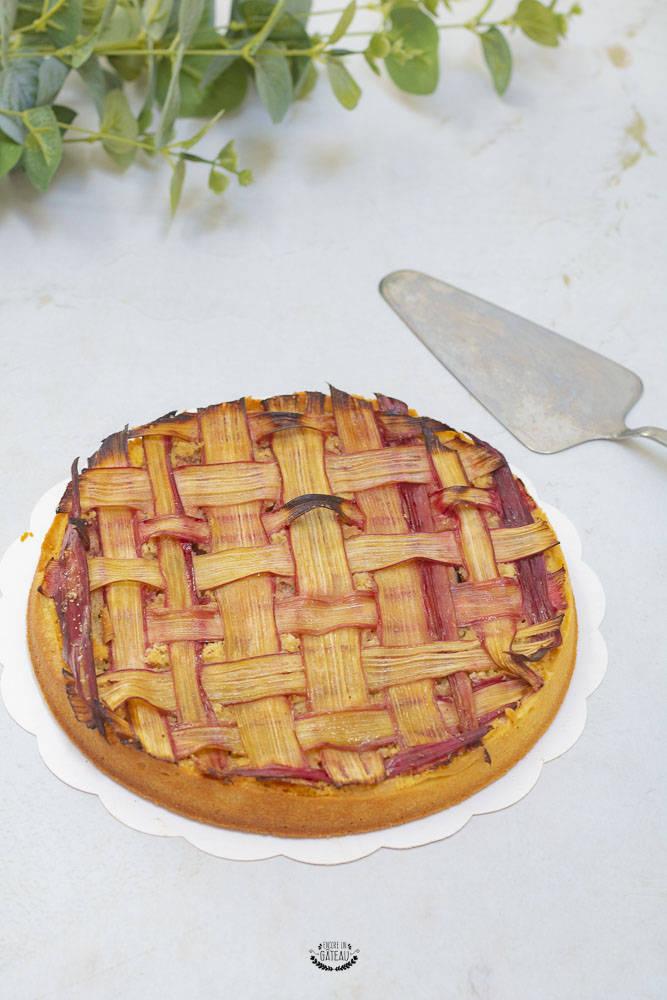 recette facile de tarte amandine rhubarbe