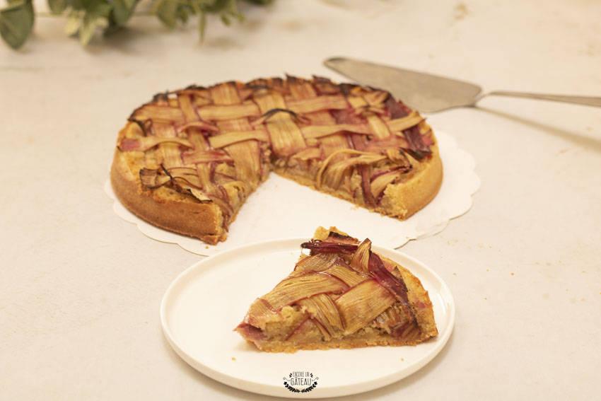 recette de la tarte amandine à la rhubarbe