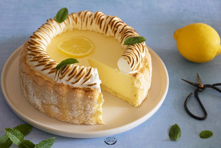 charlotte au citron meringuée facile