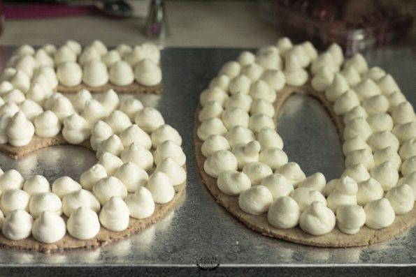 crème diplomate number cake