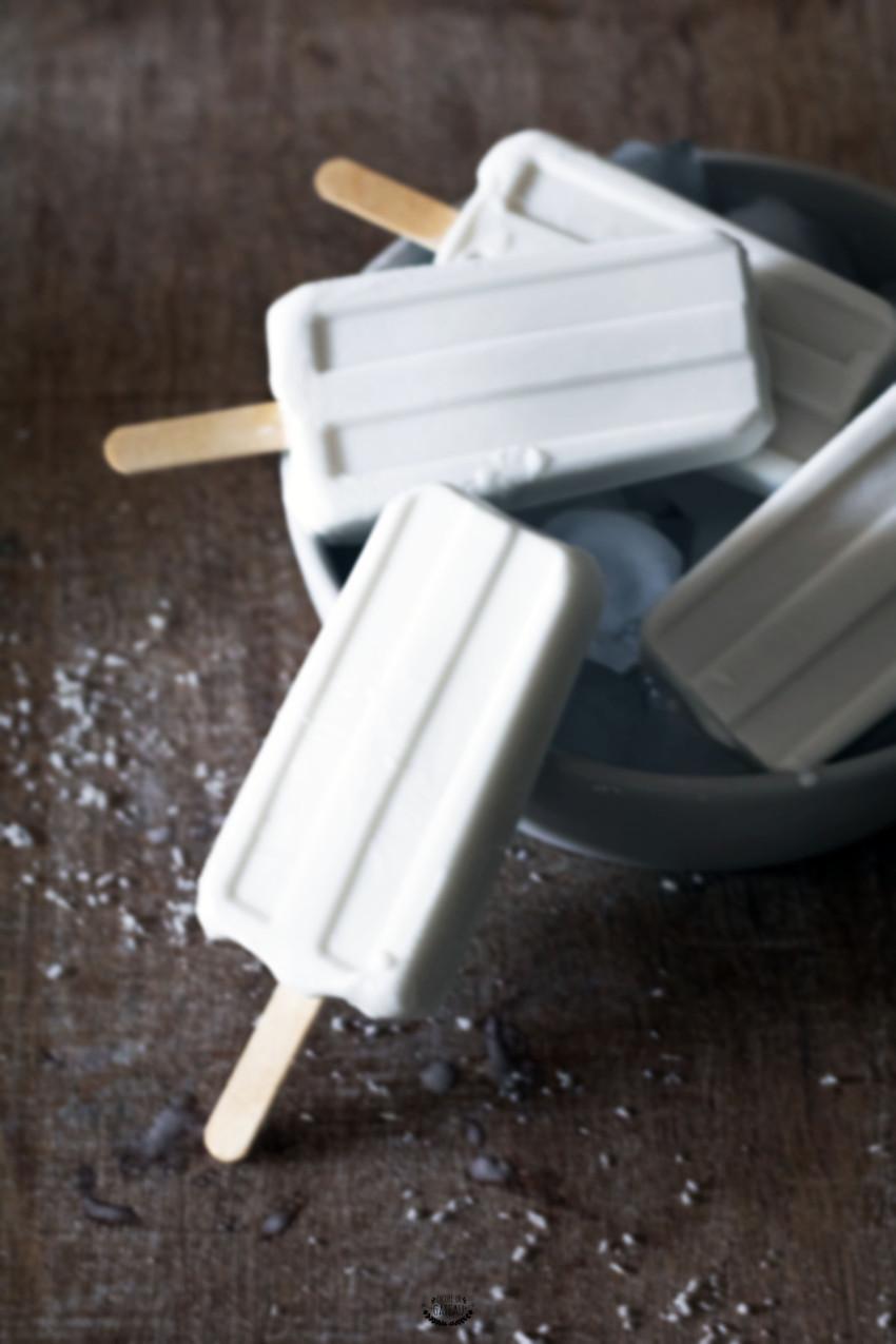 recette d'esquimaux coco avec du lait de coco