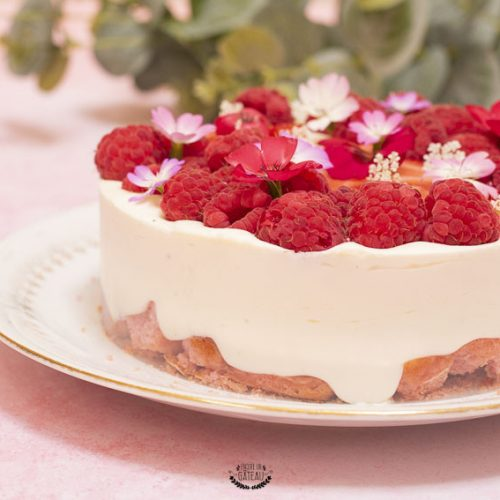 entremets mousse de fromage blanc et fruits rouges
