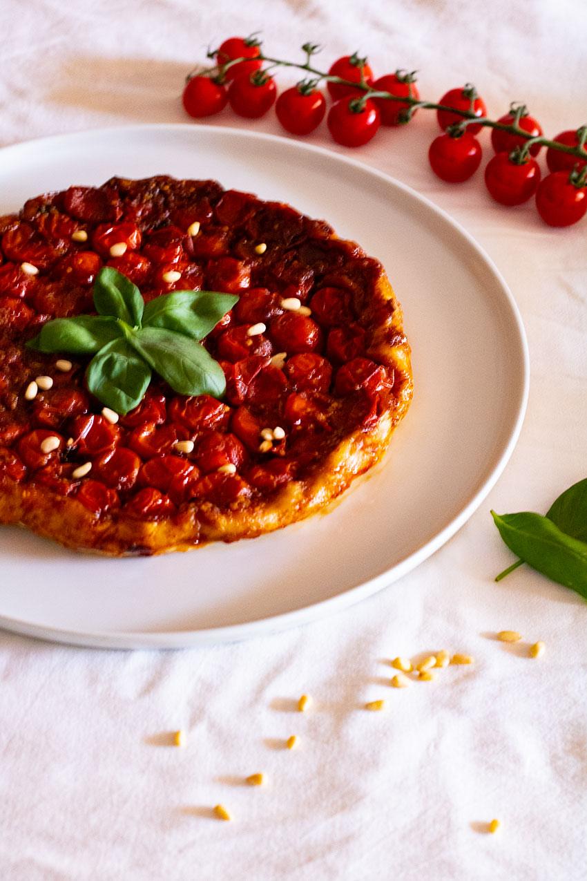 comment faire une tarte tatin aux tomates cerises ?