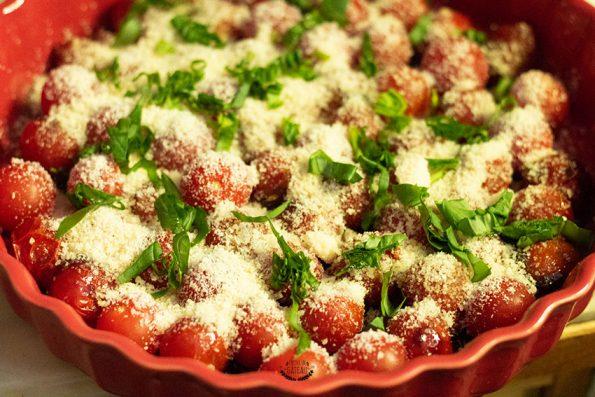 tatin tomate cerises parmesan basilic