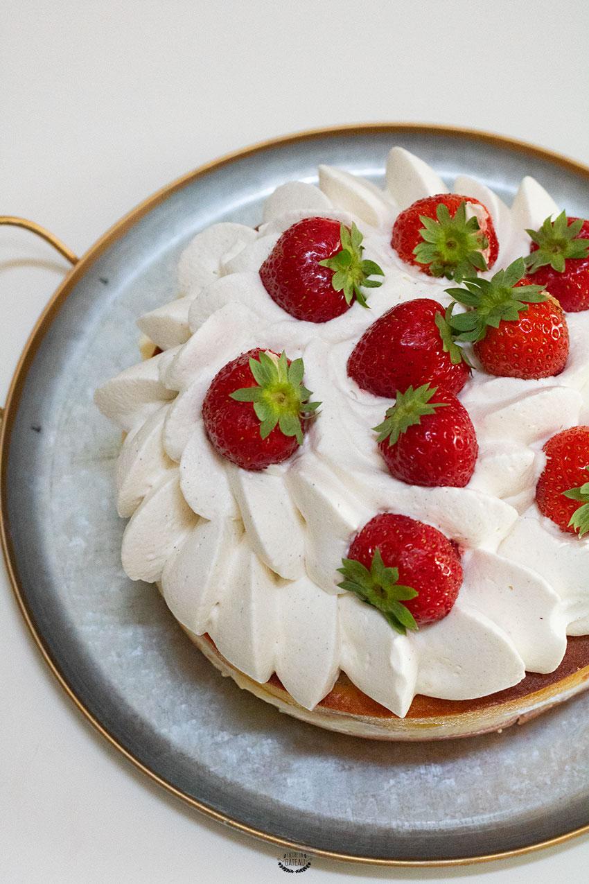recette facile gâteau d'anniversaire aux fraises