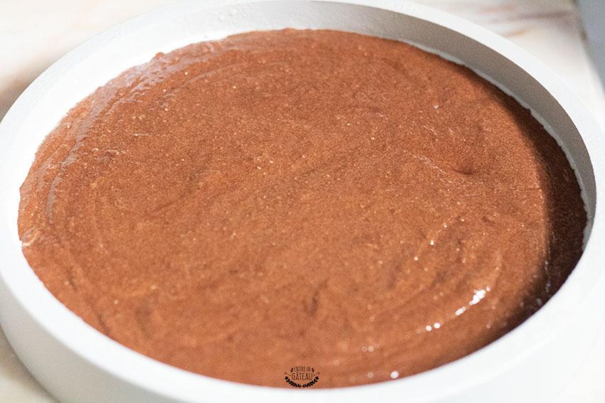 torta caprese avant cuisson