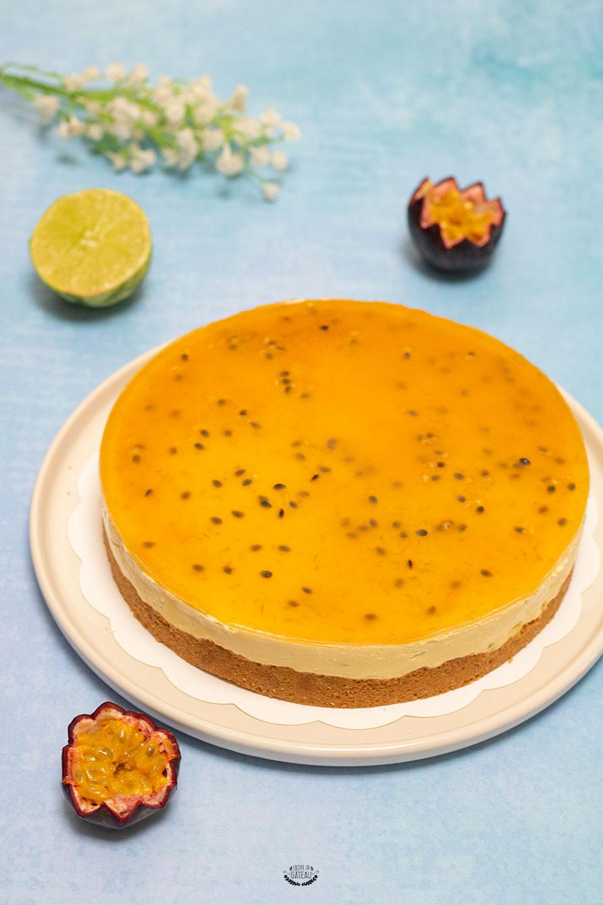 réussir un cheesecake mangue passion
