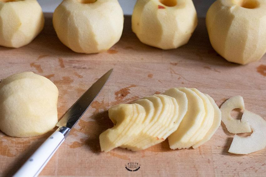 découpe pommes gâteau invisible