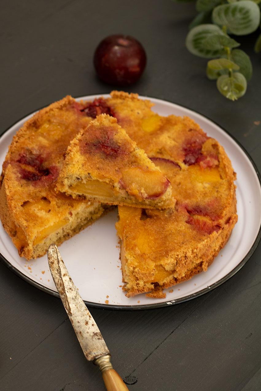 faire un gâteau aux prunes