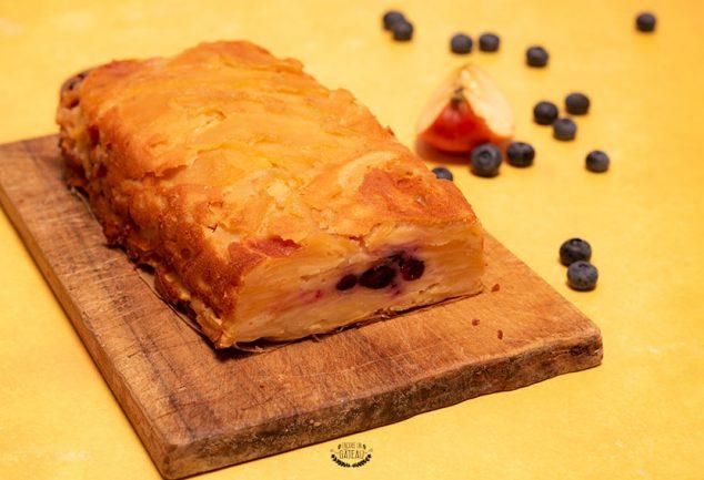gâteau invisible pommes myrtilles