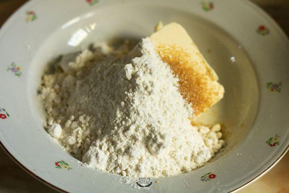 ingrédients crumble tarte crumble pommes framboises