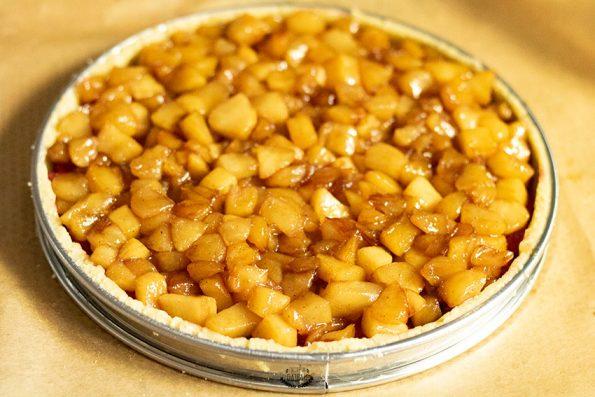 pommes tarte crumble pommes framboises