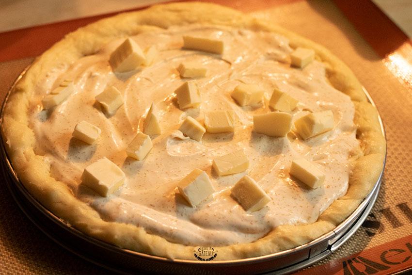 tarte au sucre avant cuisson
