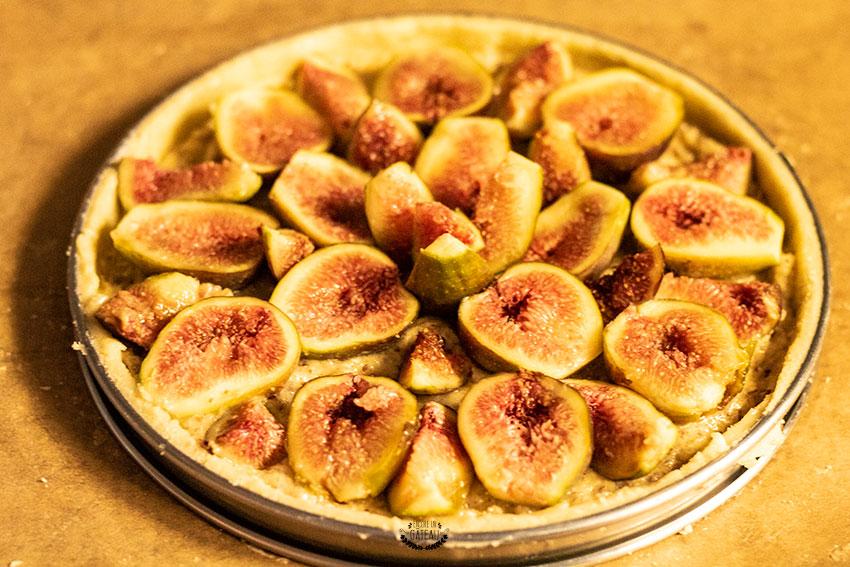 tarte aux figues avant cuisson