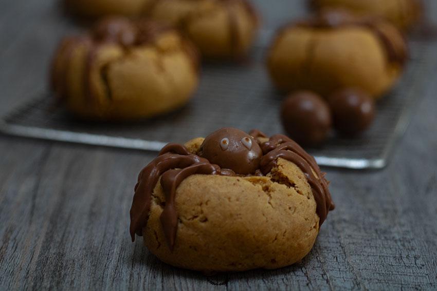 biscuits araignées halloween