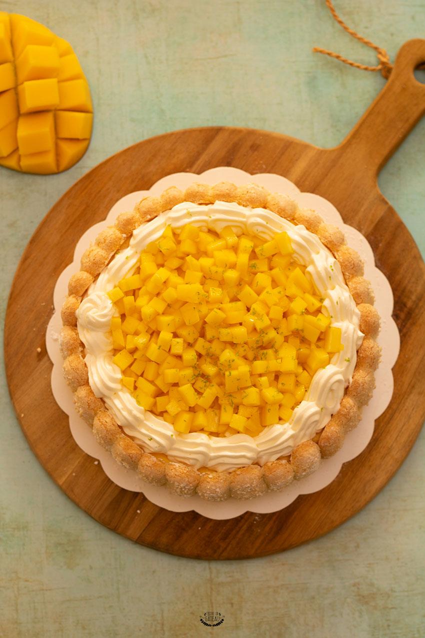 faire une charlotte à la mangue