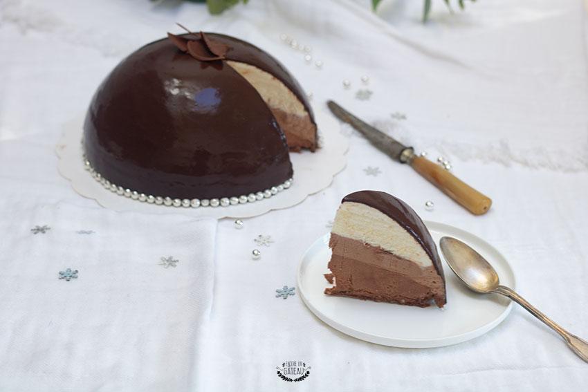 gâteau trois chocolats