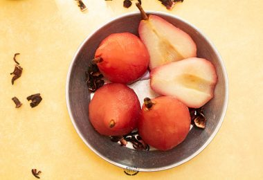 recette de poires pochées