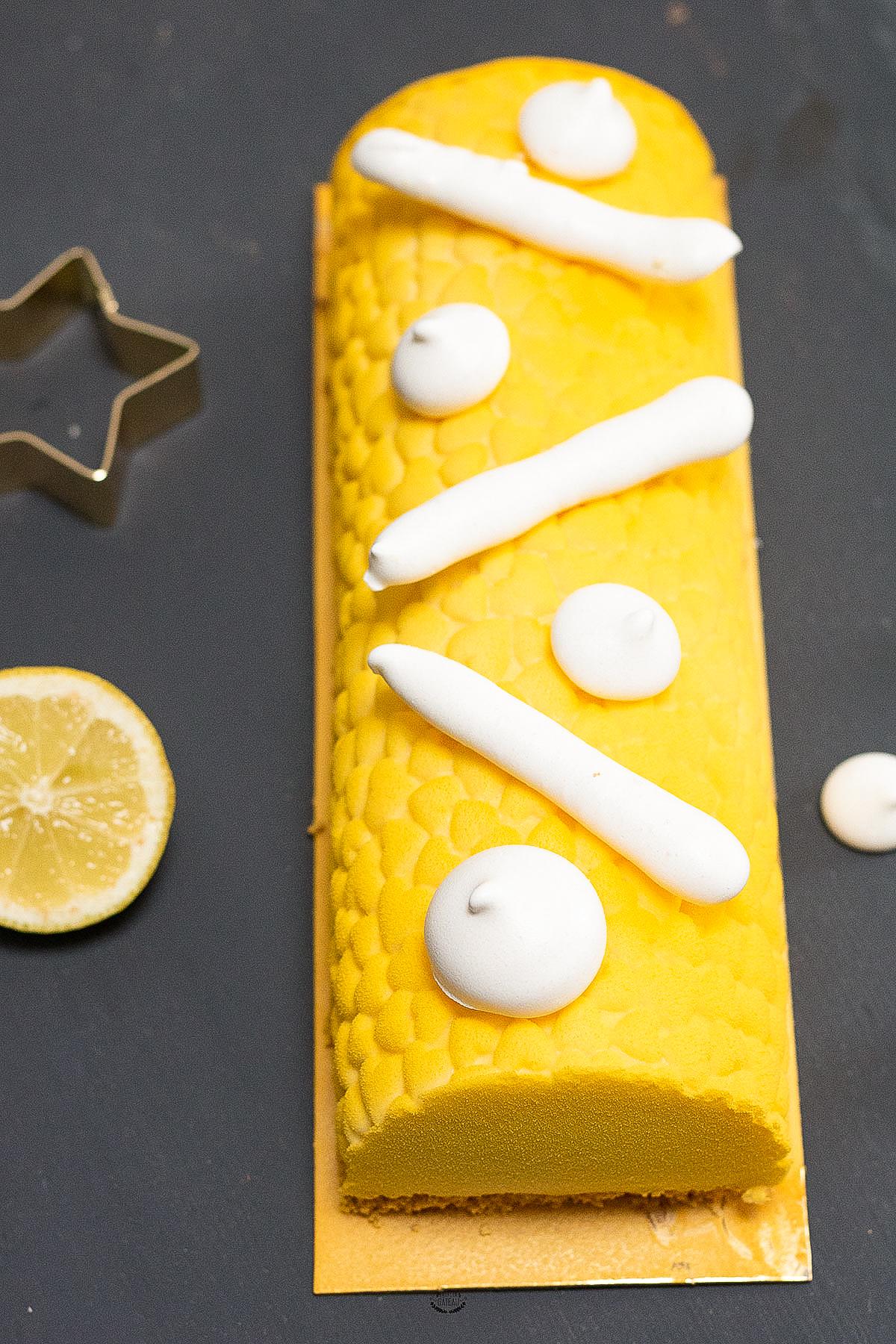 bûche citron meringuée recette