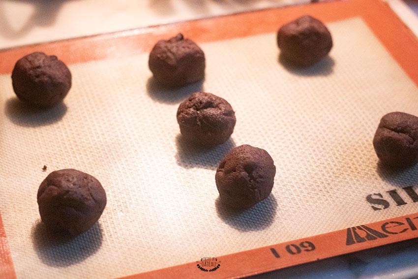 cookies tout chocolat avant cuisson