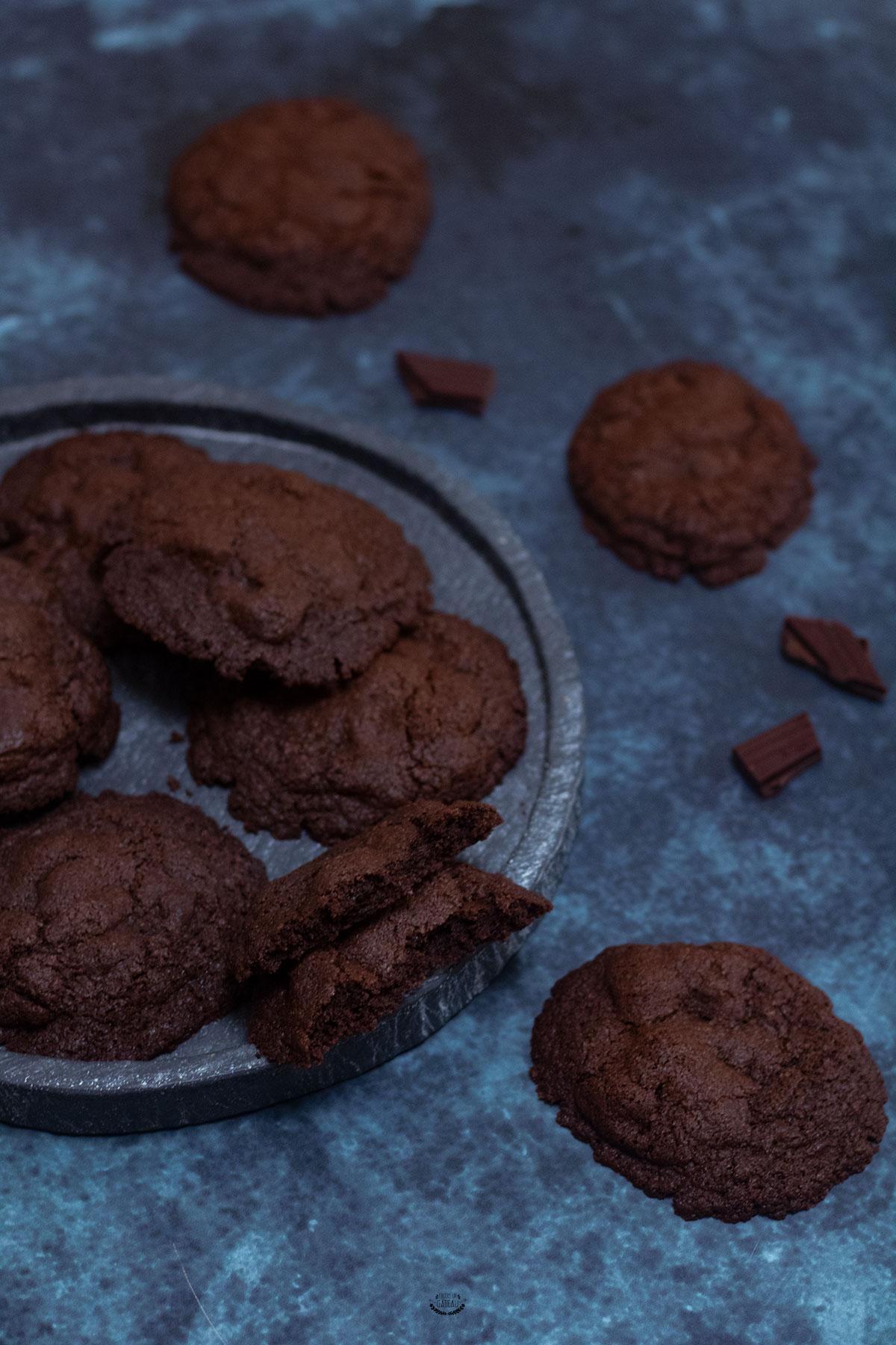 cookies tout chocolat recette