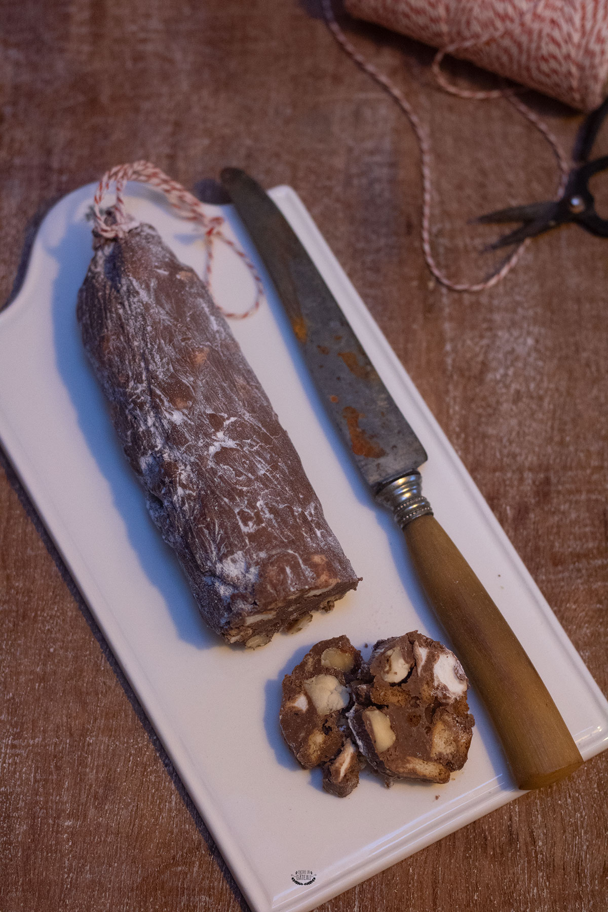 faire saucisson chocolat michalak