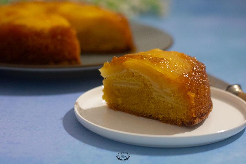 recette du gâteau renversé aux poires