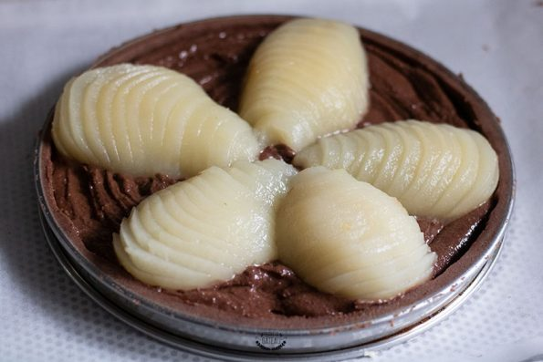 tarte poire chocolat avant cuisson