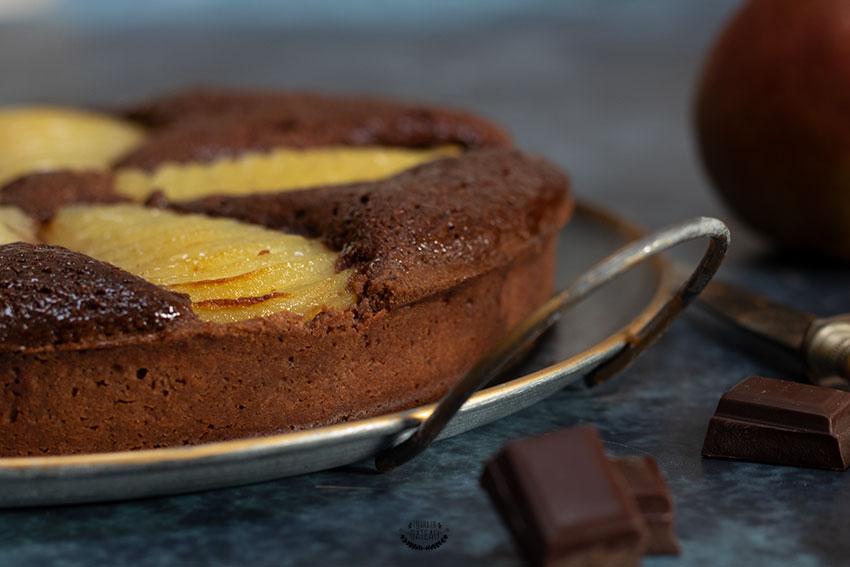 tarte poire chocolat façon bourdaloue