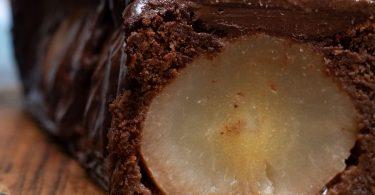 cake poires entières chocolat