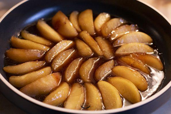 pommes moule tatin