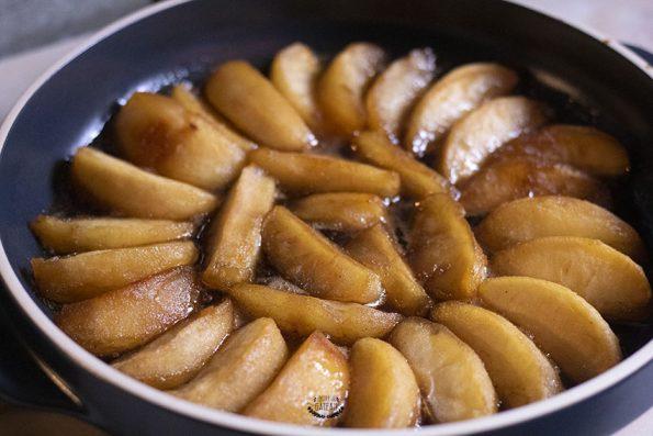 première cuisson pommes tarte tatin