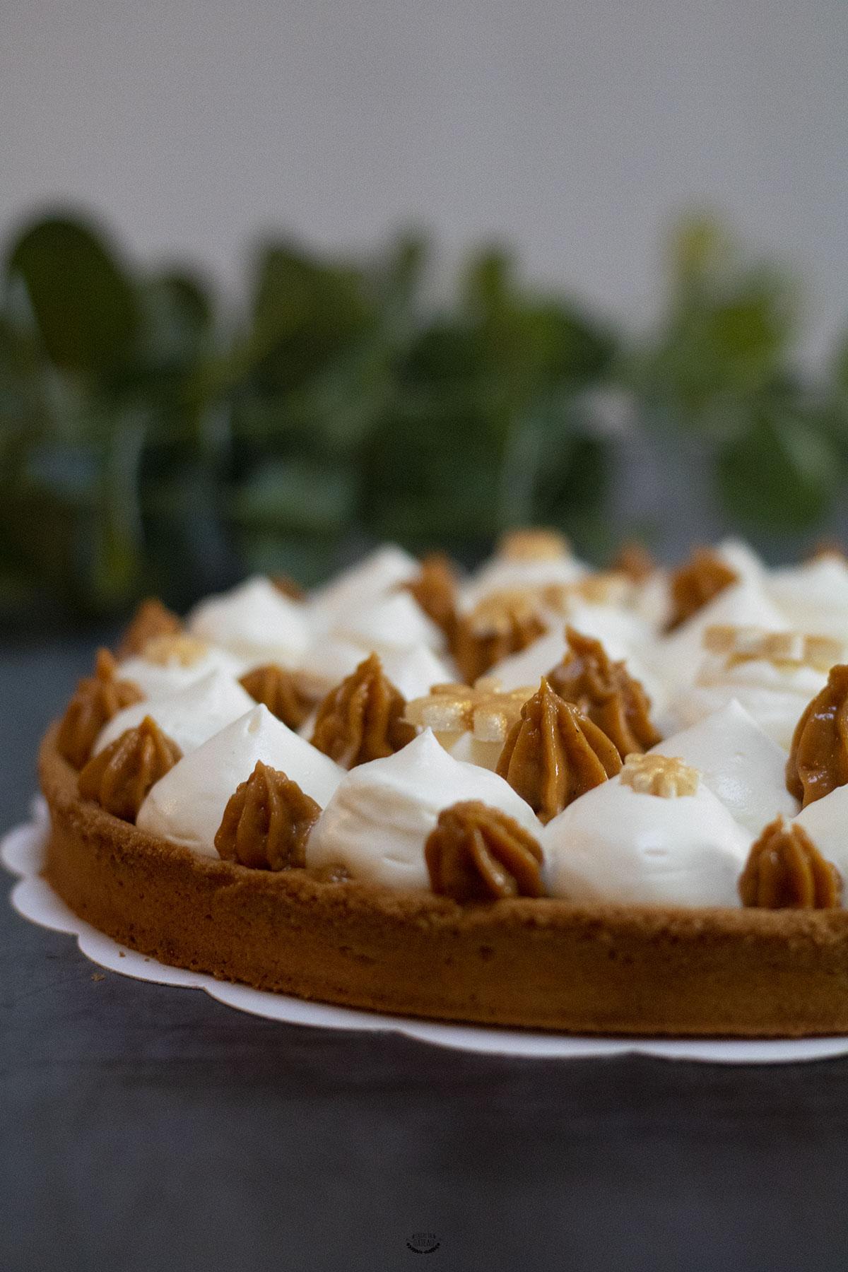 recette tarte vanille caramel
