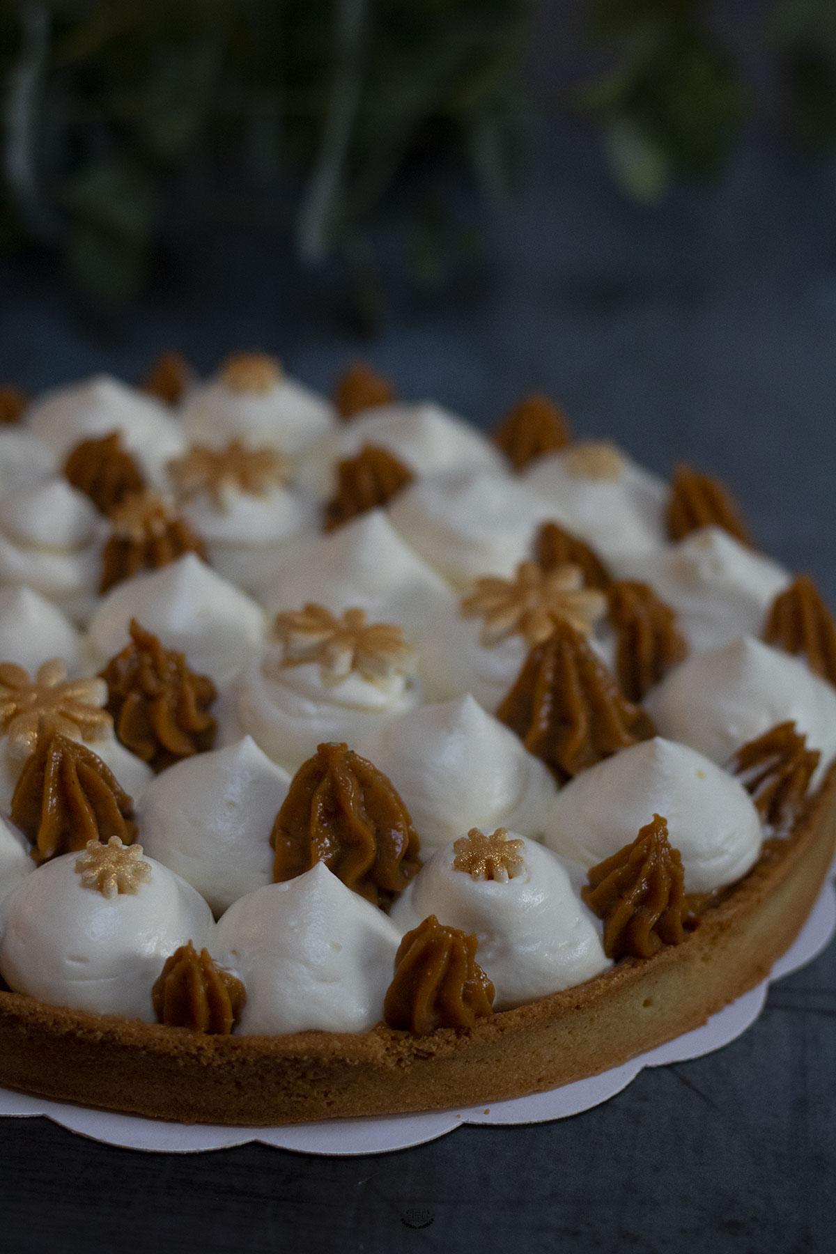 tarte caramel beurre salée ganache montée vanille
